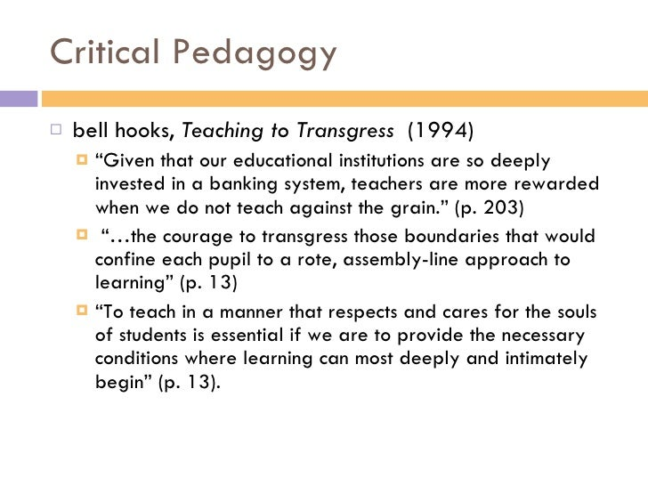 teaching critical thinking bell hooks summary Teaching critical thinking : practical wisdom responsibility bell hooks imprint introduction 1 critical thinking 2 democratic education 3 engaged.