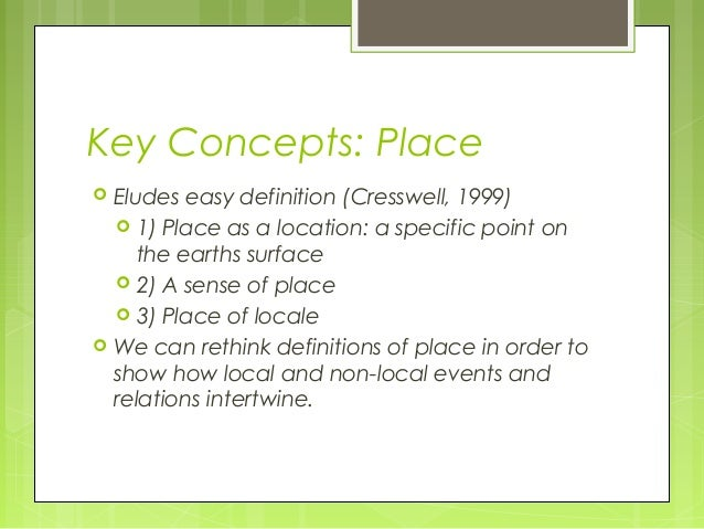 Critical perspectives in human geography for Definition of space in a relationship