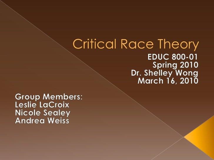 Critical Race Theory Week 1