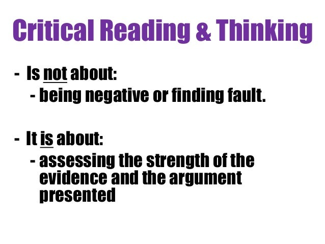 critical thinking is not Permalink emil karlsson, critical thinking also is not childish because it often leads to conclusions that are the exact opposite of what we want to be true.