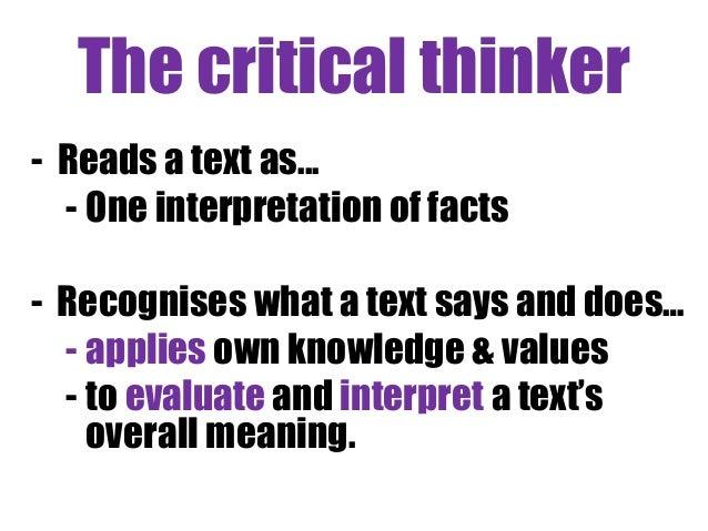 critical thinking tools of evaluation Teaching for critical thinking: tools and techniques to  the evaluation of critical thinking  defining and teaching evaluative thinking.