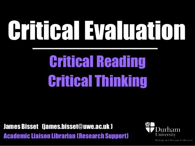 Critical Thinking, Reading & Writing