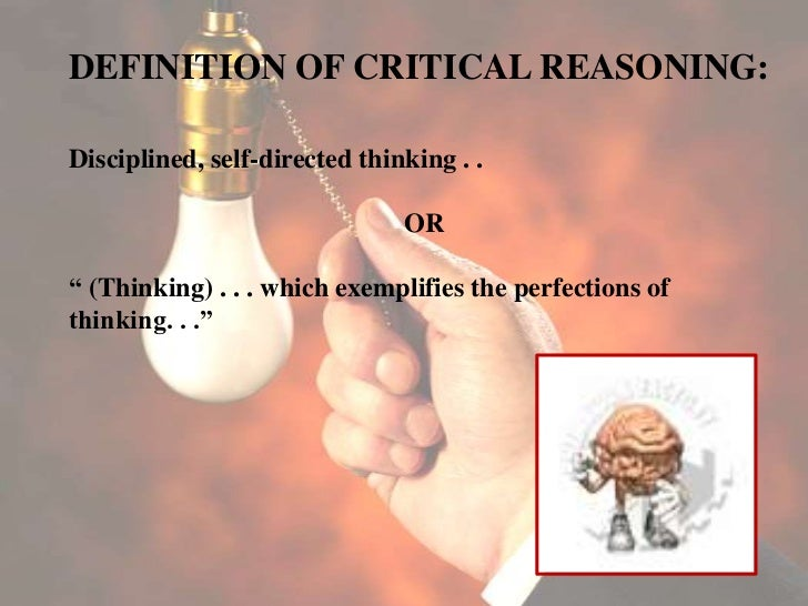 critical thinking and reasoning tests Questions that promote deeper thinking surveys of college faculty reveal that their number one instructional goal is to promote critical thinking, and reports on the.