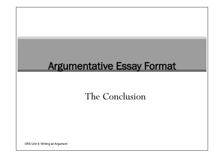 which argumentative essay structure concludes with the counterargument and rebuttal