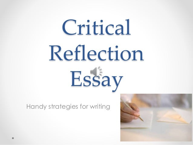 reflective essay on presentation In the rest of this reflection i am going to write reflecting on different parts of my presentation and how i could have done it better and improve it for the next time i definitely found that to make a presentation on a topic the presenter must have an interest and a great knowledge of the topic.