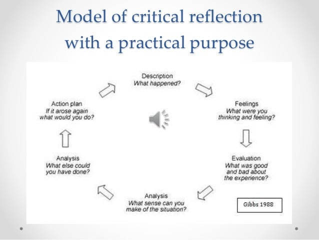 critical reflection essay social work Social work reflective essay print reference this (2007) 'reflexivity, its meanings and relevance for social work: a critical review of the literature' british.