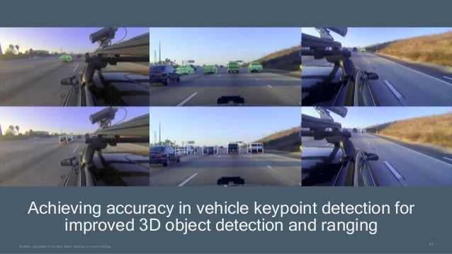 17 17 Screen captures from test video during on-road testing Achieving accuracy in vehicle keypoint detection for improved...