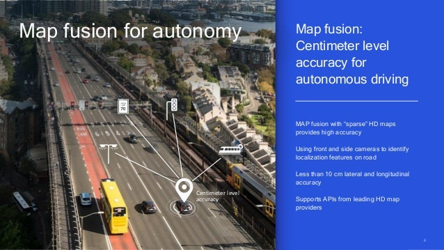 8 Centimeter level accuracy Map fusion: Centimeter level accuracy for autonomous driving Map fusion for autonomy MAP fusio...