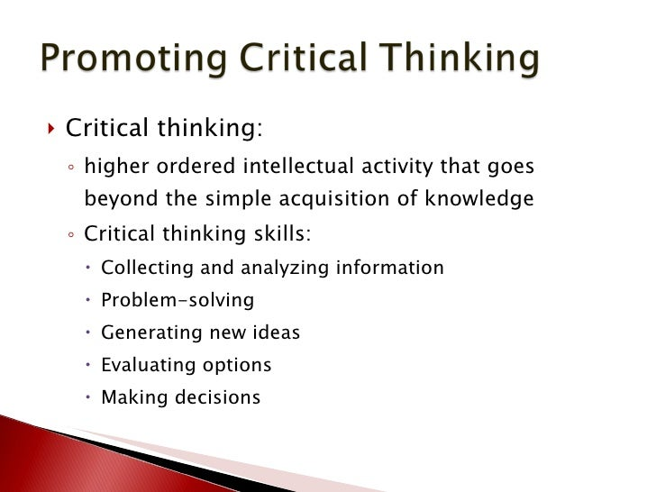 critical thinking reflection essay