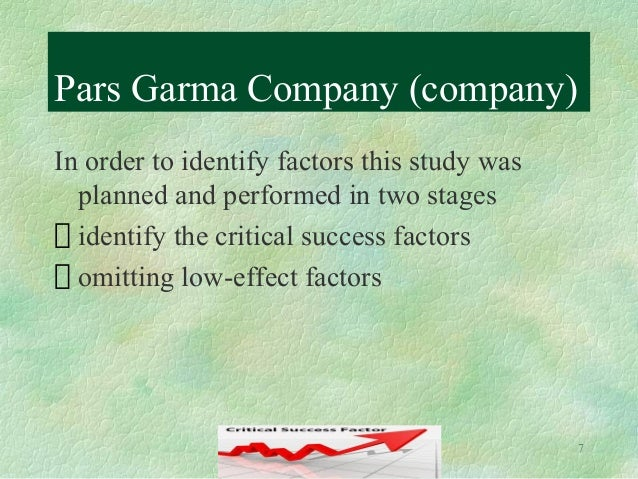 impact of critical success factors of a project Factors of project managersuccess 64 literature by and large studies critical success factors across a wide range of categories namely project success (gefen, gefen.
