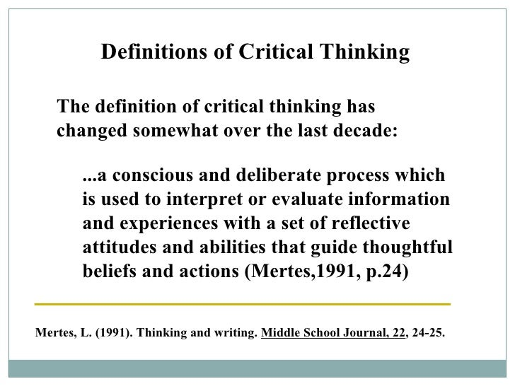 how will critical thinking help me process information