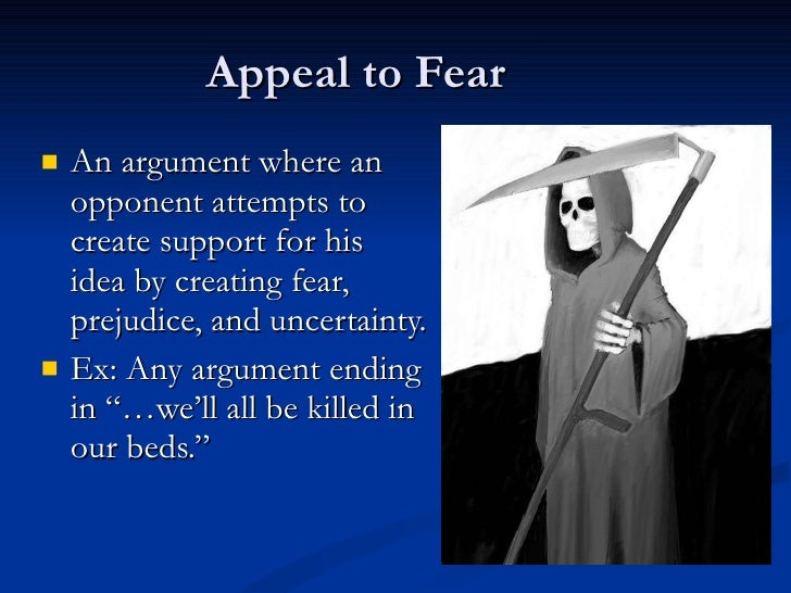 Argumentative essay on fear