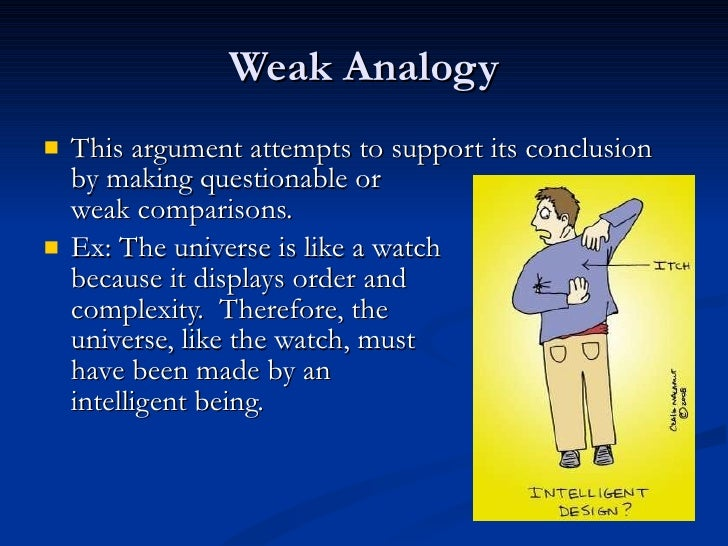 Weak Analogy Fallacy Examples Gallery Example Cover Letter For Resume