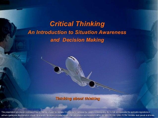 Copyright D Gurney 2006                                                            Critical Thinking                      ...