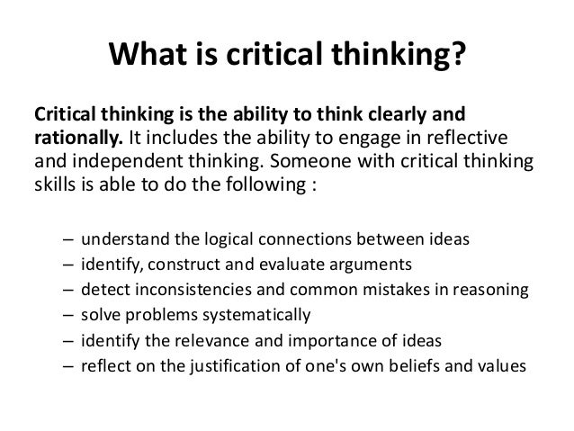 essay about the importance of critical thinking Did you know that school curriculums around the world are increasing their focus on critical thinking skills presentations & white papers hanen newsletter membership speech-language why is critical thinking so important critical thinking is a fundamental skills for both language and.