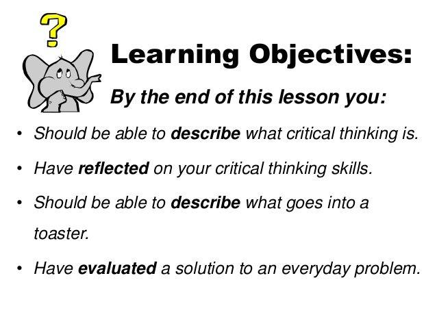 Critical thinking Slide 2