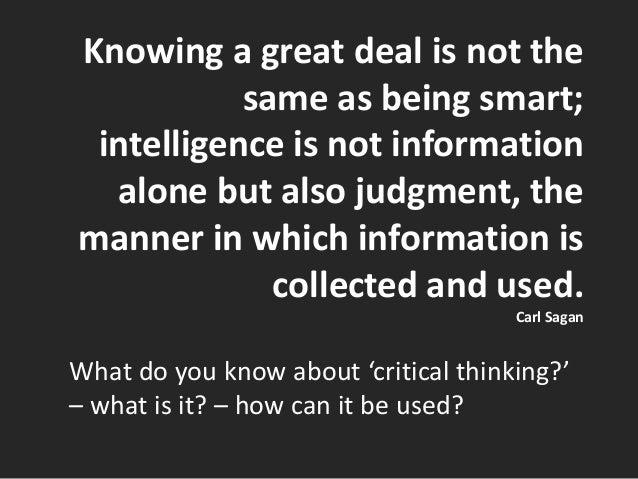 Critical thinking Slide 3