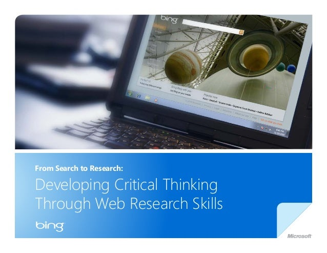From Search to Research: Developing Critical Thinking Through Web Research Skills