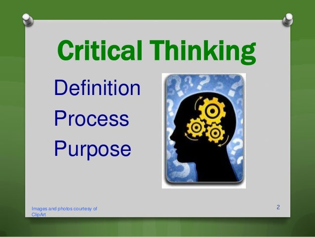 Clip art of critical thinking