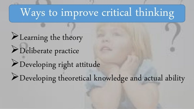 Critical thinking learning theory