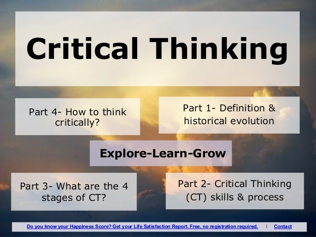moore and parker definition of critical thinking