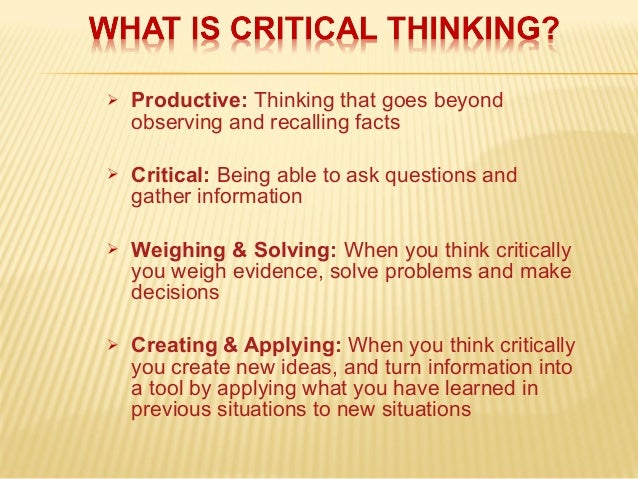 Critical Thinking: Identifying the Targets