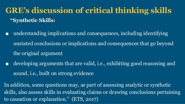 critical thinking as level flaws