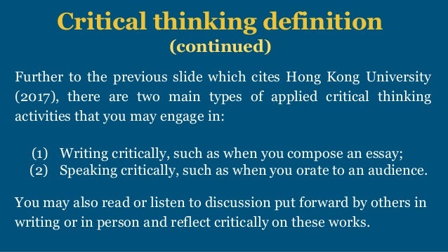 nursing critical thinking definition