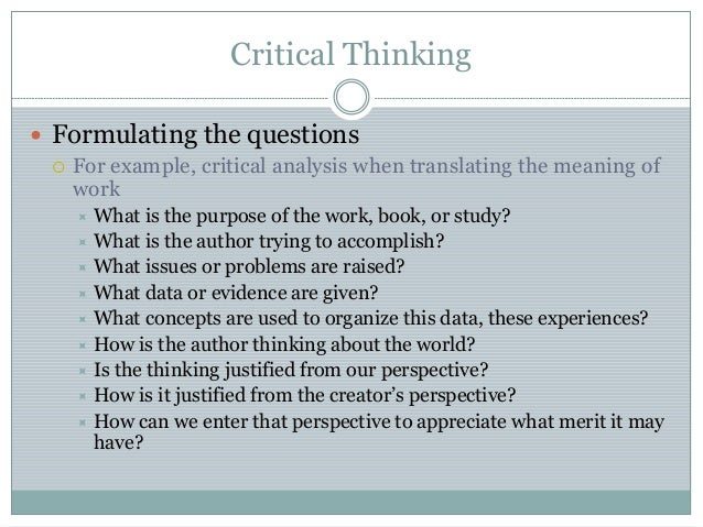 Examples of critical thinking questions for kids.