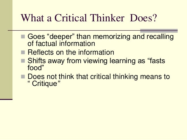 Developing critical thinking essay