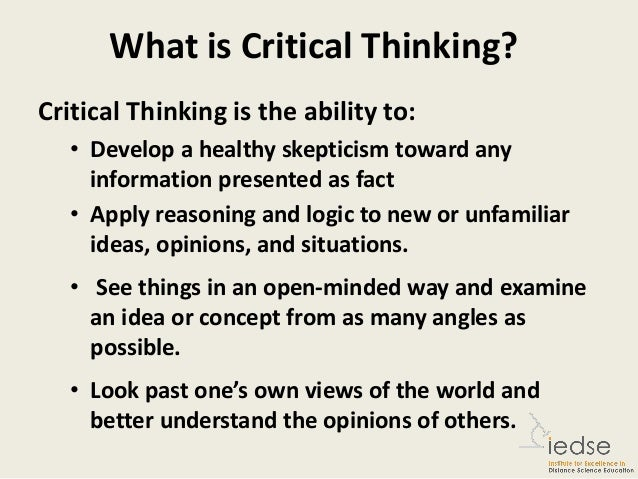 What is the definition of critical thinking
