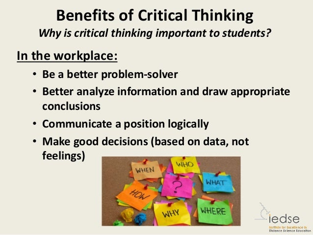 list and explain the 4 skills of critical thinking The value of critical thinking in nursing + examples critical thinking skills are very important in the nursing field because they are what you use to prioritize and make key decisions that can save lives nurses give critical care 24/7.