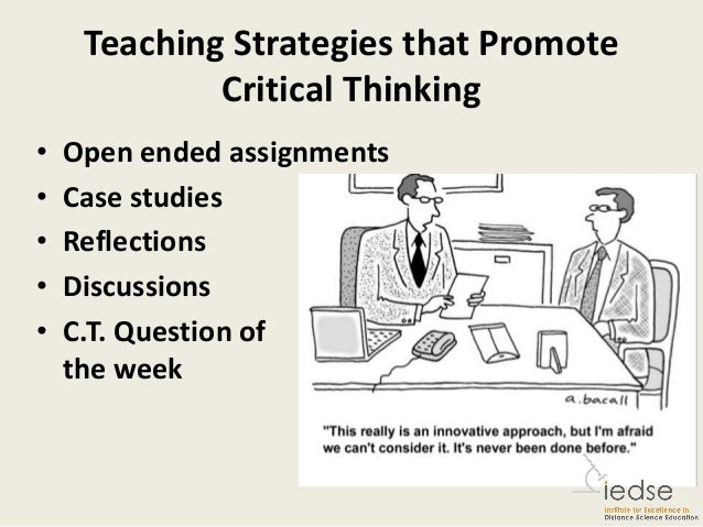 How can we teach critical thinking article