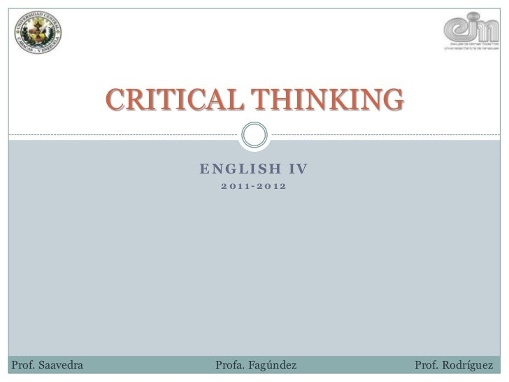 critical thinking english class What is critical thinking  webinar (2) for english language teachers, the lecturer started the webinar by asking participants to  critical thinking in the .