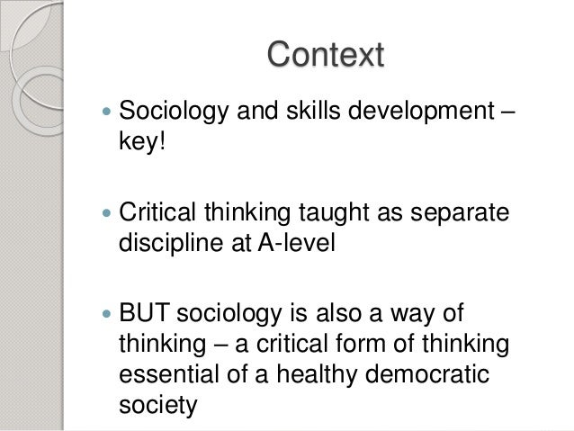 importance of developing critical thinking skills Critical thinking: a literature review been aware of the importance of critical thinking skills as can encourage the development of critical thinking skills.