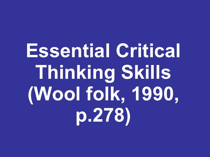 critical thinking and logic powerpoint