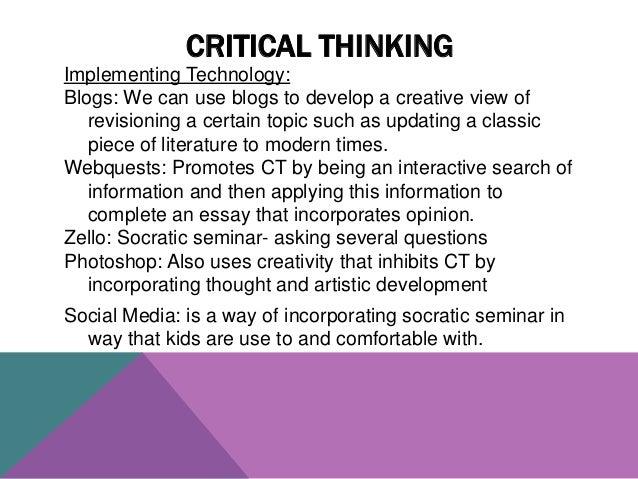 Critical criticism essay howells instance modern