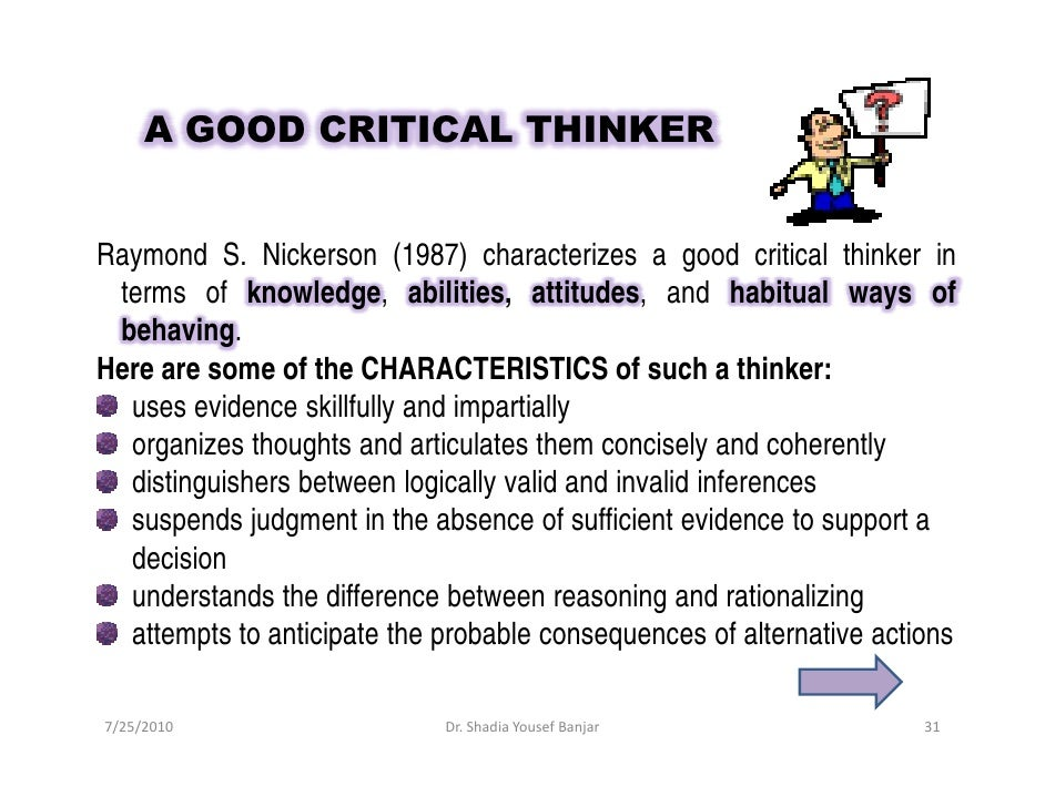Effective critical thinking