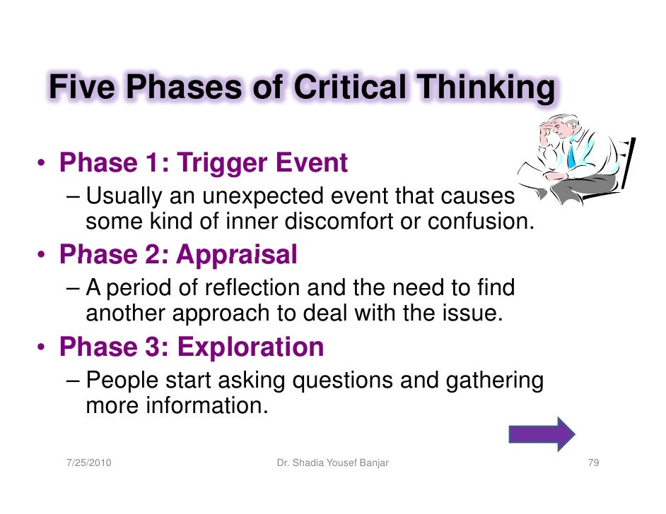 critical thinking involves all of the following except