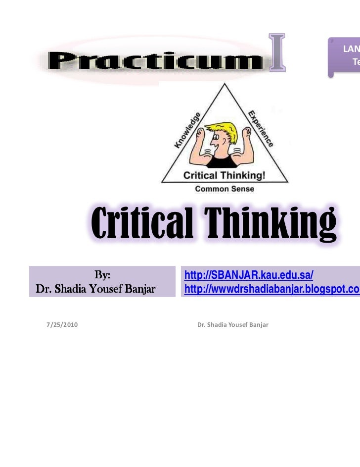 LANE-462-FA-HA-                                                            Term 2- 2011              Critical Thinking    ...