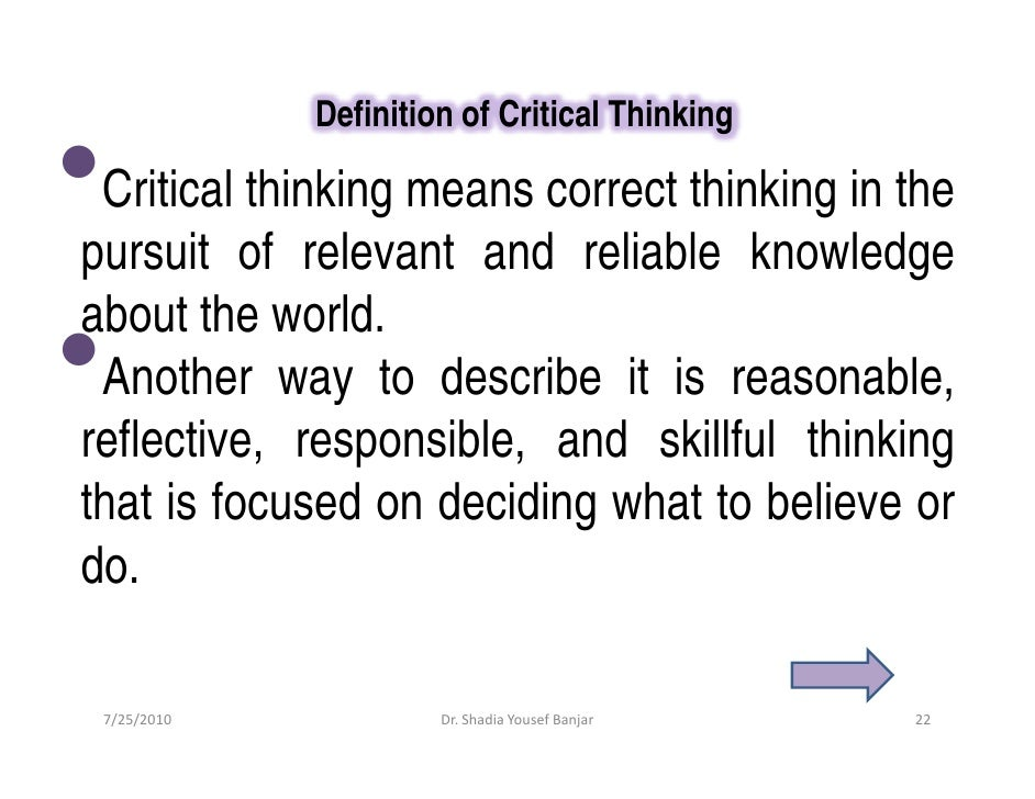 Critical essay definition
