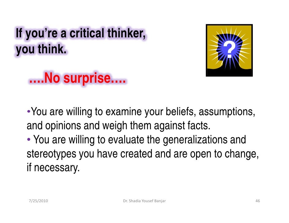 Critical Thinking   SkillsYouNeed Traits of a critical thinker