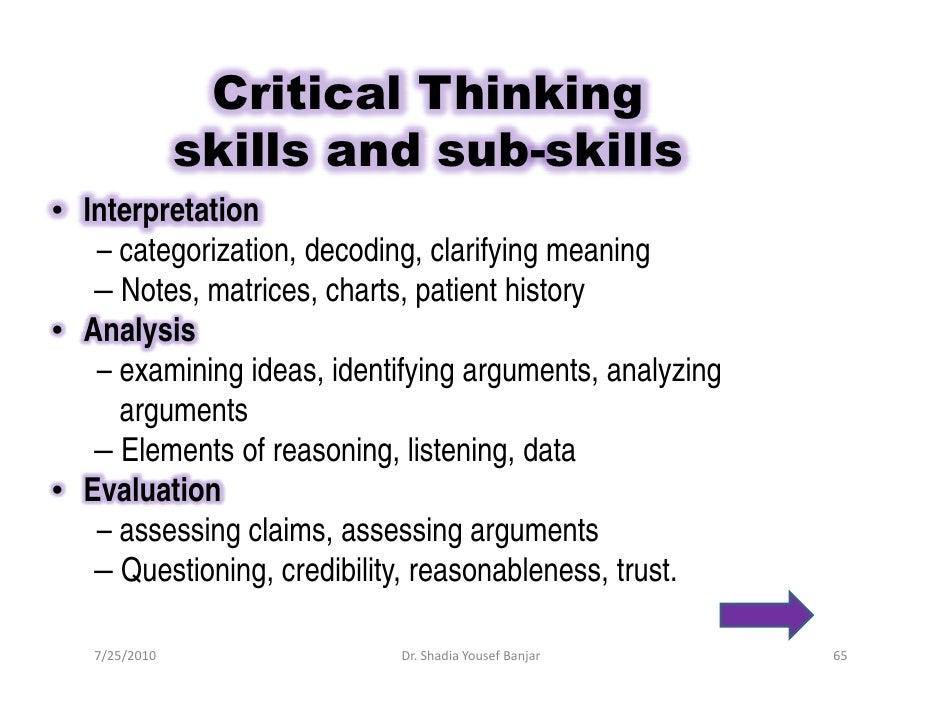 what are the 7 critical thinking skills