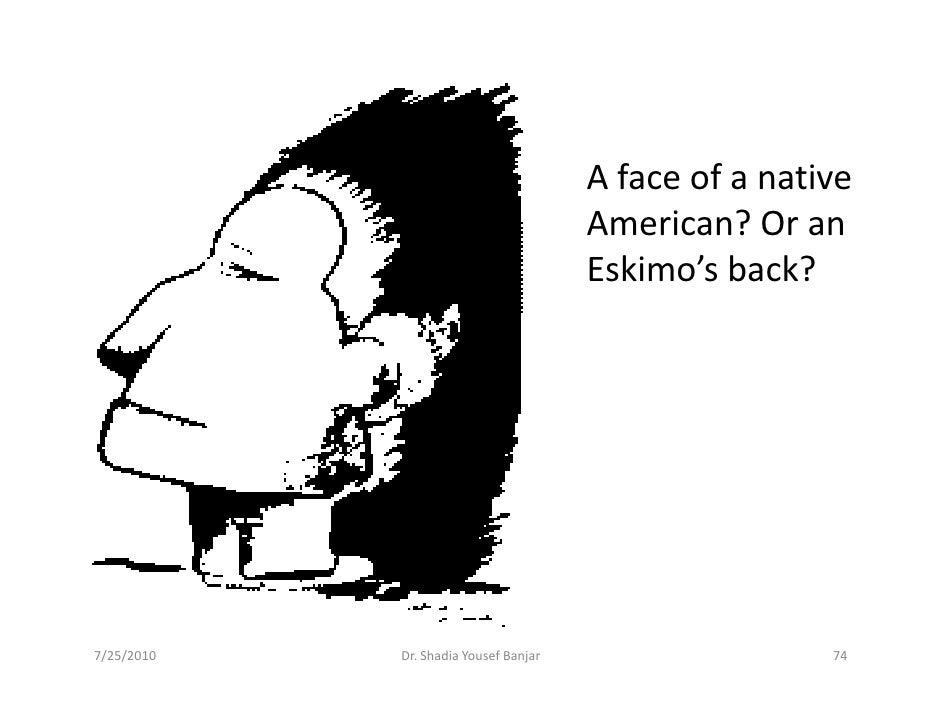A face of a native                                        American? Or an                                        Eskimo's ...