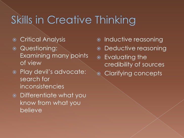 creative thinking and critical thinking essay This essay will propose principles of critical and creative thinking applicable to the military profession to creative and critical thinking and innovative.