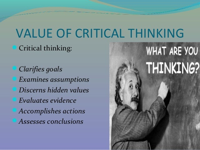 Critical Thinking  by Dr  Shadia Yousef Banjar pptx SlideShare