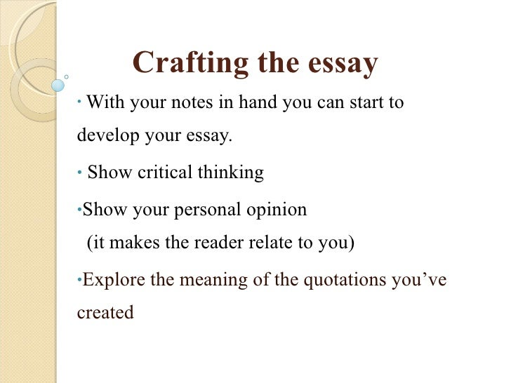 The critical thinking essay