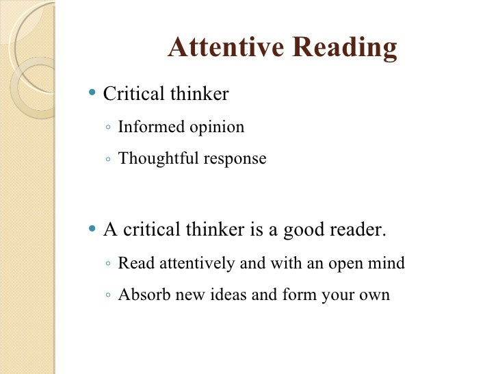 Essay for thinking reading and writing