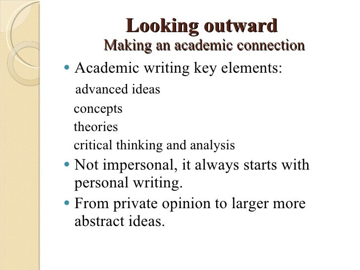 Critical thinking in college writing from the personal to the academic by gita dasbender