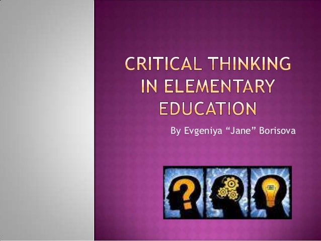Why Public Schools Don't Teach Critical Thinking -- Part 1